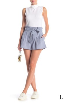 Elodie Paperbag Pleated Shorts