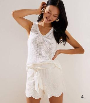 Loft Crochet Tie-Waist Shorts