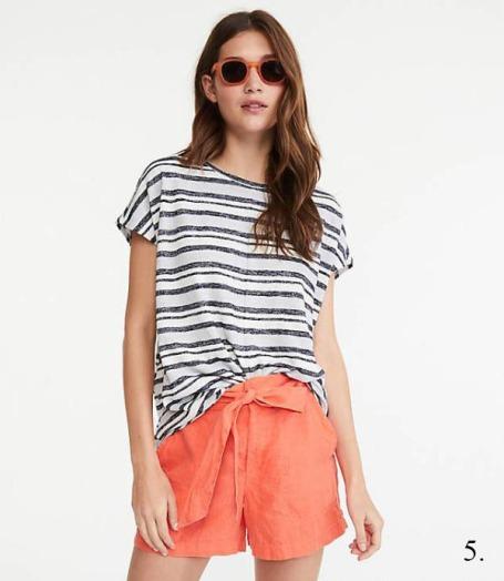Loft Tie-Waist Linen Shorts