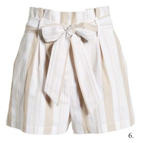 Socialite Striped Paperbag Shorts