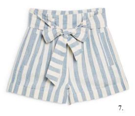 Topshop Tie-Waist Linen Shorts